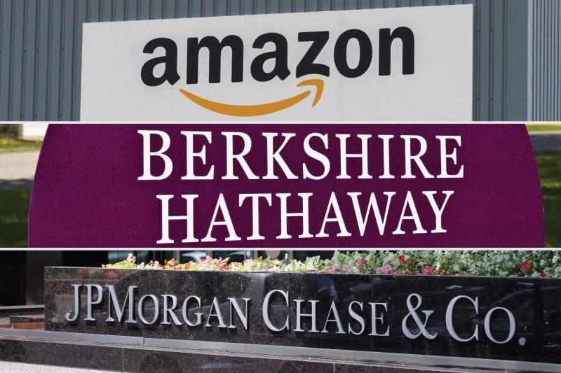 Amazon, Berkshire, JPMorgan Chase, logos